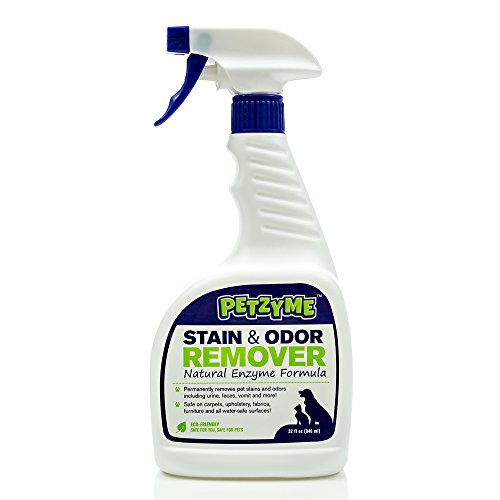Petzyme Pet Stain Remover & Odor Eliminator, Enzyme Cleaner for Dogs, Cats...