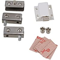 BQLZR tono argento in acciaio inossidabile libero Swinging No Piercing vetro porta a battente Cerniere Morsetti Kit per 5-8mm door - Acciaio Inox Porta Cerniere