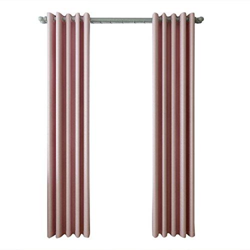 Chlove Blickdichte Vorhänge Isolierter Gardine Fenster Schal mit Ösen für Schlafzimmer Wohnzimmer 245x140cm/175x140cm ( H X B ) 1er-Set (245 x 140 cm, Rosa)