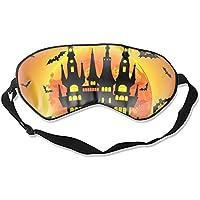 Halloween Schlafmaske mit Schloss Grab und Fledermäusen Seide Augenmaske für Schlafende Jalousien preisvergleich bei billige-tabletten.eu