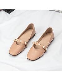 62c4f88cd3914 GAOLIM Solo Zapatos Primavera Hembra Cuadrado Plano Luz-Abuela Zapatos  Zapatos Zapatos De Mujer Estudiante