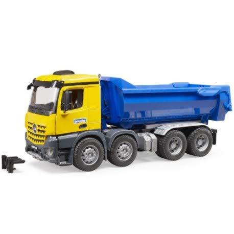 bruder MB Arocs Halfpipe Kipp-LKW Modellfahrzeug, blau/gelb