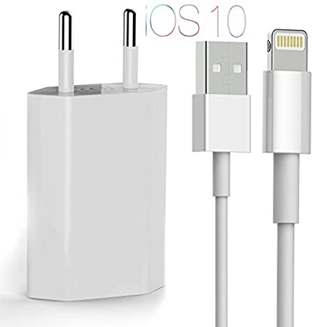 Lightning Chargeur OKCS 1M cable [ version améliorée ] USB rapide et cetain + 1A Alimentation pour Apple iPhone 7, 7 Plus, 6s Plus, 6s, 6 Plus, 6, 5s, 5c, 5, iPad Pro, Air, Mini, iPod - blanc