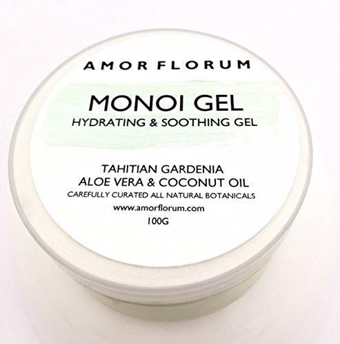 ALOE & ALGEN - MONOI GEL mit KOKOSNUSSÖL & TAHITIAN GARDENIA - 100g - von AMOR FLORUM - BEDINGUNGEN, FEUCHTIGKEITEN und NÄHREN Haut und Haare. Kein zusätzliches Parfüm. - 100% Reine Algen