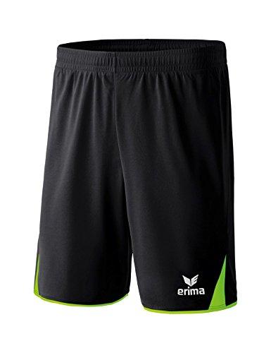 ERIMA Kinder Classic 5-C Shorts mit Innenslip, schwarz/green gecko, 164