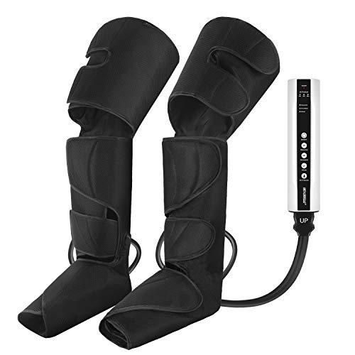 CINCOM Beinluftkompressionsmassagegerät für Beinwickel zur Aufrüstung der Wadenbeine mit tragbarem Handheld-Controller und 2 Erweiterungen - 3 Modi und 3 Intensitäten (Schwarz)