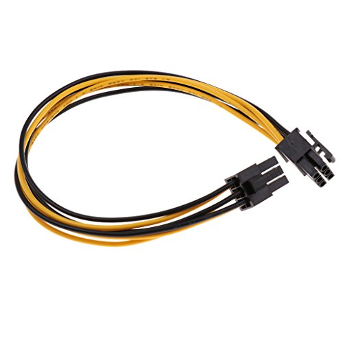 Sharplace Mini-6-Pin PCI-E 6-Pin-Grafikkarte Power-Verlängerungskabel -