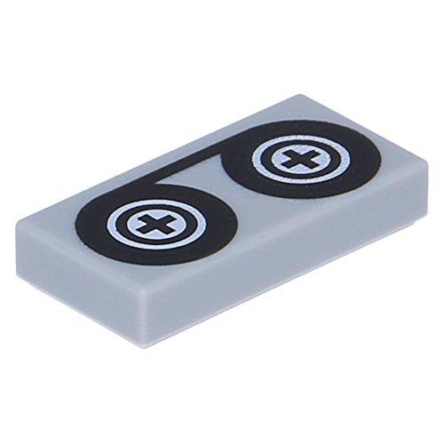 10 x LEGO® Fliese 1 x 2 mit Bandspulen Hellgrau (Neugrau)