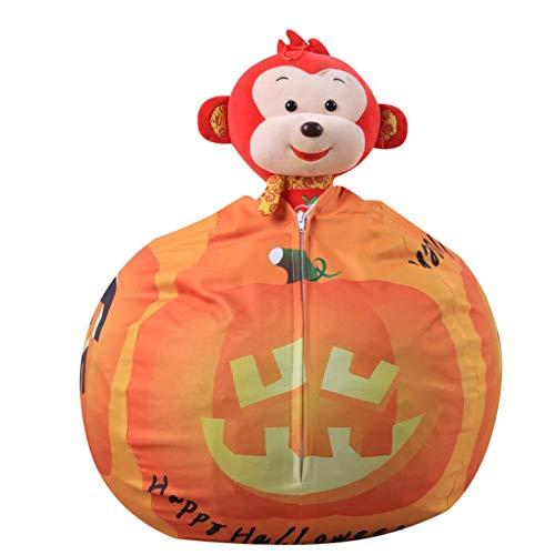 """Stofftier Aufbewahrung Sitzsack -Kinder Spielzeug Aufbewahrungstasche Plüschtiere Aufräumsack Spieldecke Speicher Tasche Soft Pouch Stoff Stuhl mit reißverschluss(Regular 26\"""")"""