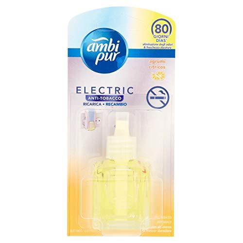 Ambipur Ricarica di Deodorante per Ambienti con Diffusore Elettrico Antitabacco - 21.5 m