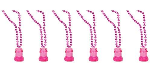 Beistle 546346Stück KETTEN-Perlen mit Willie 1Oz Shot Glas, 83,8cm Pink/Cerise