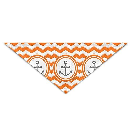 Pet Bandanas Matrose Segelboot Anker gelb gestreifter Hund Bandanas Schals Dreieck Lätzchen Schals Lovely Basic Halstuch Cat -