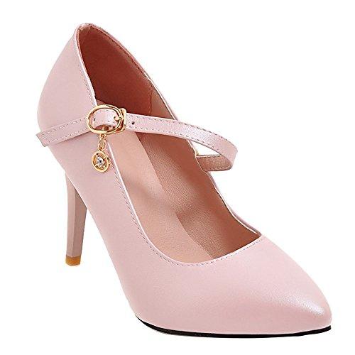 Mee Schuhes Damen Stiletto Schnalle Geschlossen Pumps Pumps Pumps Pink b4db64