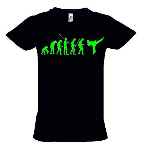 KARATE Evolution Kinder T-Shirt schwarz-green, Gr.164cm