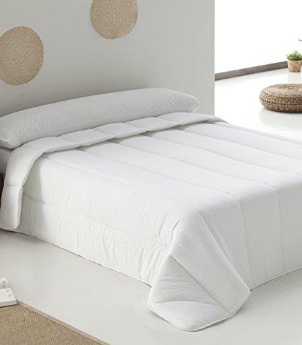 Hestia - Edredón Relleno Nórdico Blanco de 400 gr. tacto Seda. Confort Invernal. (Cama 150 (240 x 220 cm))