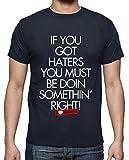 latostadora - Camiseta I Love Haters - Rubius para Hombre Azul Marino 4XL