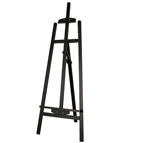 Staffeleien 1.45 M Pine Malerei Rahmen Holz Malerei Rahmen Walnuss Pigment Beschreibung Falten Staffelei staffelei Kinder (Farbe : Schwarz)