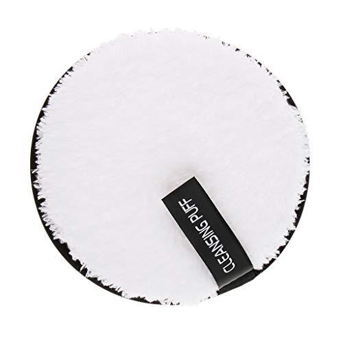 Fenteer Make-Up Entferner Pads Wiederverwendbare Abschminkpads Wattepads Gesichtsreinigungstuch - Weiß