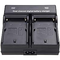 TOOGOO(R) Dual Channel Chargeur de batterie pour Batterie SONY NP-F970 F750 F960 QM91D FM50 FM500H FM55H