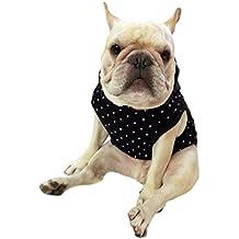 Frenchie - Ropa para mascotas con capucha negra y pompón amarillo para perro bulldog francés o