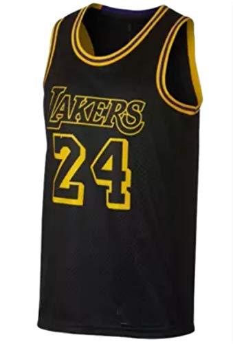 CRBsports Kobe Bryant, Baloncesto Jersey, Lakers, Negro, Ciudad Edicion, Nuevo Tejido Bordado, Swag, Ropa Deportiva (Negro, M)