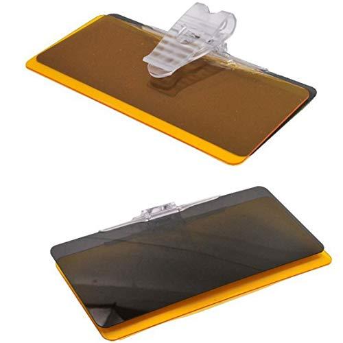 Vige Auto Tag und Nacht Blendschutz Spiegel Polarisator für Kfz-Zubehör Mode Praktische Sonnenschutz - Schwarz & Gelb