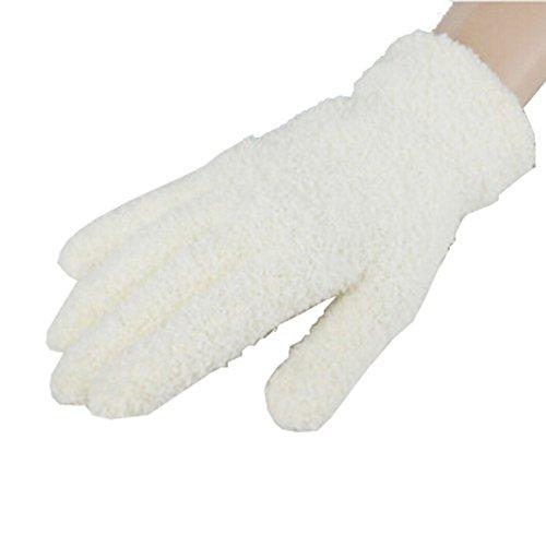 Frauen / Mädchen-Winter-warme Finger Plüsch Handschuhe, 1 Paar, Weiß