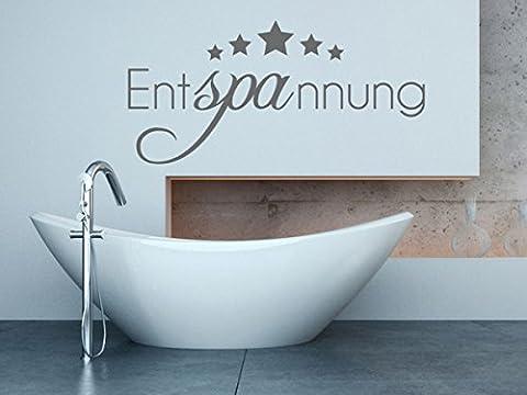 Wandtattoo-bilder® Wandtattoo Entspannung Badezimmer Wellness Relax Chillen Farbe Kupfer, Größe