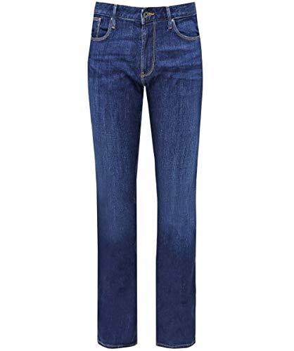 Armani uomo j06 slim fit jeans blu denim 47 regolari