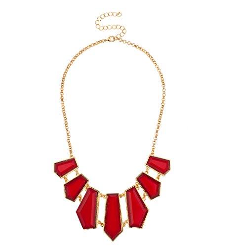 LUX Zubehör Geo rot Statement Lätzchen Kette Halskette Tiffany Toggle Halskette