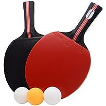 Easy-Room Tischtennisschläger, Tischtennis-Set, 2 Tischtennis-Schläger und 3 Tischtennis-Bälle