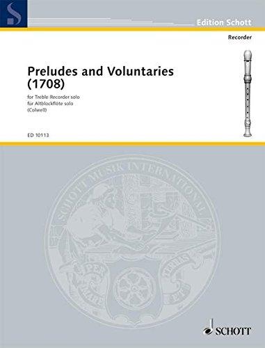 Preludes and Voluntaries: Alt-Blockflöte. (Edition Schott)