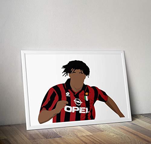 Ruud Gullit inspirierte Poster - Zitat - Alternative Sport/Fußball Prints in verschiedenen Größen (Rahmen nicht im Lieferumfang enthalten)