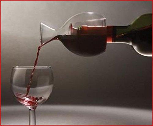 Mini decantador, oxigenador cristal con doble pared para colocar y servir directamente de la botella. Regalo original.