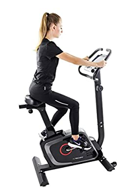 TechFit B470 Magnetic Fitness Exercise Bike, Weightloss Resistance Cardio Machine with Adjustable Saddle, Pulse Sensors and LCD Monitor by TechFit
