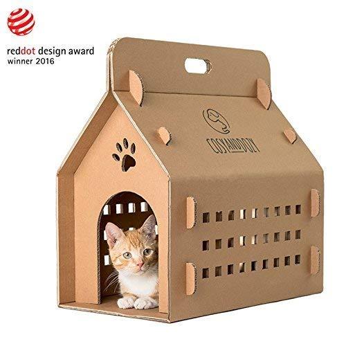 'catve nture es mucho más que un animal de casa de cartón para tu gato. sobre todo, es una caja de transporte ecológico, la tu viaje más agradable la sea. que es muy cómodo, ligero, transpirable y económico pueden ser instalados además, tiene dos pue...