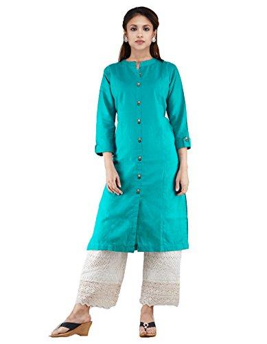 Unnati Silks Women Blue Pure Khadi Cotton A-line Kurta