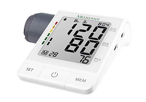 Medisana BU 530 Connect Oberarm-Blutdruckmessgerät mit Arrhythmie-Anzeige, WHO-Ampel-Farbskala - für eine präzise Blutdruckmessung und Pulsmessung mit Speicherfunktion und Bluetooth App- 51174 -