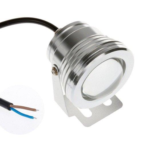 HF® 210W 12V Warm Weiß Aircraft Aluminium IP68Unterwasser Wasserdicht LED-Licht, für Aquarium Fisch Tank Füllfederhalter Schwimmbad Teich Licht verstellbarer–Silber