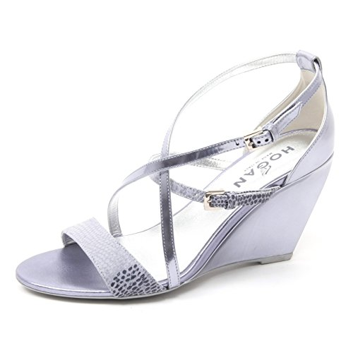 B4130 sandali donna HOGAN H227 scarpa zeppa viola chiaro sandal shoe woman viola chiaro
