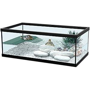 Zolux Aquarium für Schildkröten / Amphibien, 55cm, Schwarz