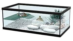 aquarium pour tortue d 39 eau tortum 55 noir animalerie. Black Bedroom Furniture Sets. Home Design Ideas