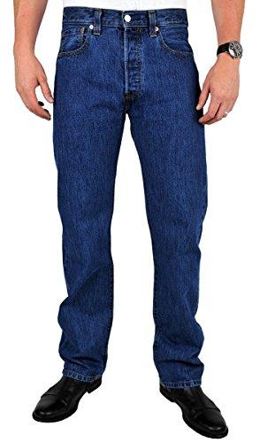 Levi's Herren Jeans 501 Original Fit Blau (Stone Wash 007)