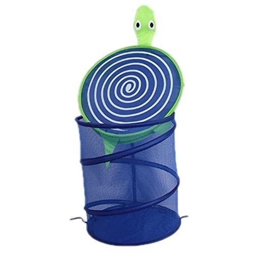 HENGSONG Faltbar Spielzeugkorb Wäschekorb Wäschesammler Wäschebox für Kinderzimmer Aufbewahrungsbox Spielzeugkiste 7 Farben (Blau Schildkröte)