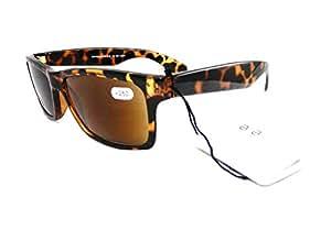 Magnif Augen Savannah Lesen Sonnenbrille Unisex + 3,00Browns schwarz Magn. UV 400RRP £ 19,95