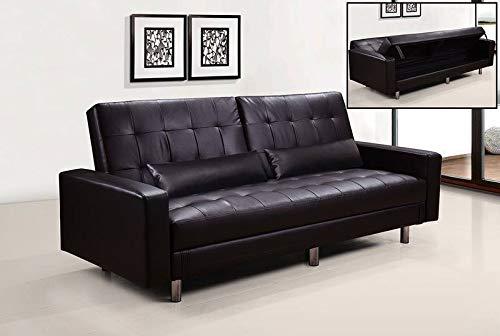 Gstore divano letto contenitore ecopelle hug reclinabile (bianco)