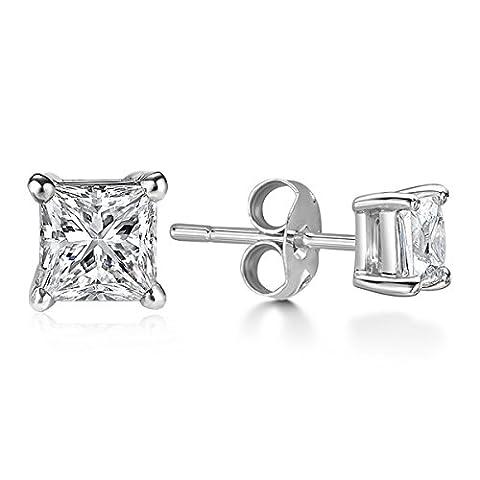Billie Bijoux Damen-Ohrstecker und 925 Sterling Silber Ohrringe mit Zirkonia Diamant Strassstein, Frauen Schmuck