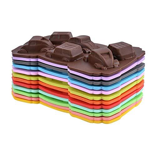 Sponsi Cartoon Car Silikonform - Schokoladenformen & Eiswürfel - Seife Backen Kuchenform Küchenhelfer