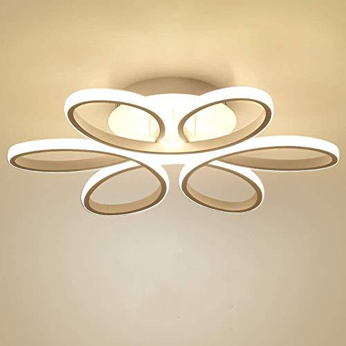 LED Plafonnier Dimmable Moderne Fleur avec Télécommande Silice et Aluminium pour Salon Salle à manger Bureau Blanc Ø58cm*10cm 85W