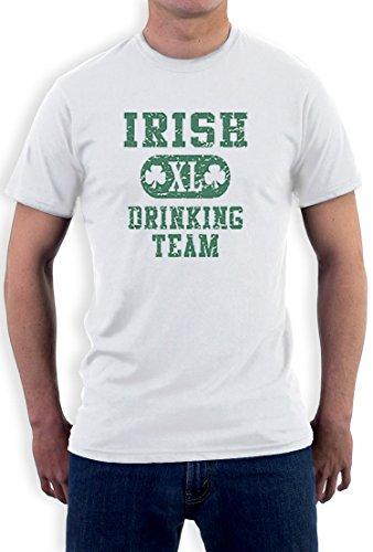 Irish Drinking TEAM high Quality very comfortable T-Shirt Weiß